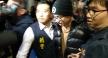 孫安佐今天晚間抵達台灣桃園機場入境。   記者張俊明攝