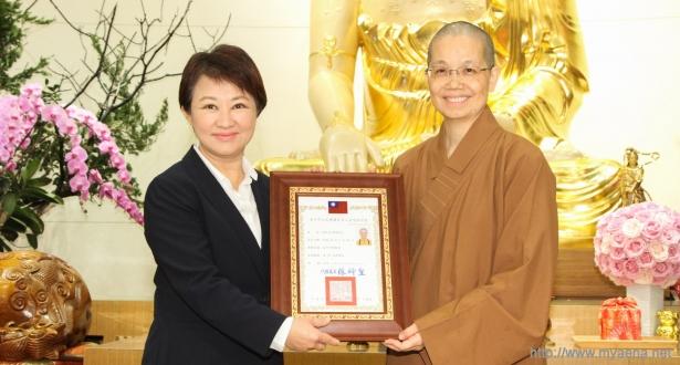 台中市佛教會新任理事長就職 盧市長期許護佑台中風調雨順、國泰民安